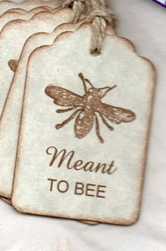 "Honey Bee Tags. ""Mea"