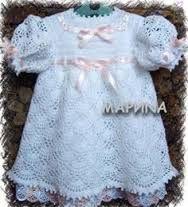 Afbeeldingsresultaat voor gratis patroon baby jurkje haken