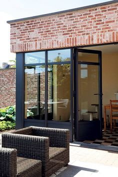 Luxal aluminium French door and fixed lights