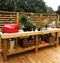 Basic Kitchen Area Concepts For Inside or Outside Kitchen areas – Outdoor Kitchen Designs Outdoor Kitchen Plans, Outdoor Sinks, Outdoor Kitchen Design, Simple Outdoor Kitchen, Rustic Outdoor Kitchens, Outdoor Barbeque Area, Outdoor Grill Station, Diy Bbq Area, Basic Kitchen