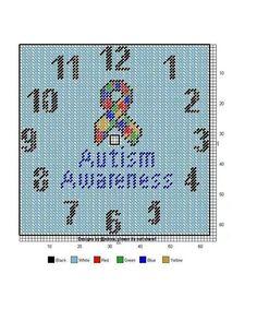 Autism Awareness clock
