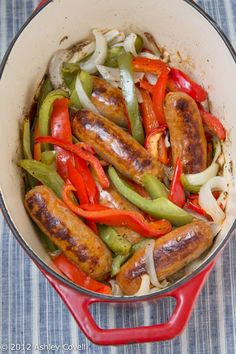 Sausage and Peppers - dutch oven recipe