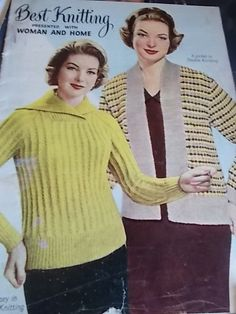 Vintage knitting pattern BOOK BEST KNITTING WOMAN
