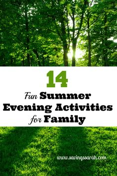 Need ways to fill those long summer evenings with fun without going broke. Check out 14 great evening activities for the whole family as part of the 30 Days of Summer Series on VMG 206.