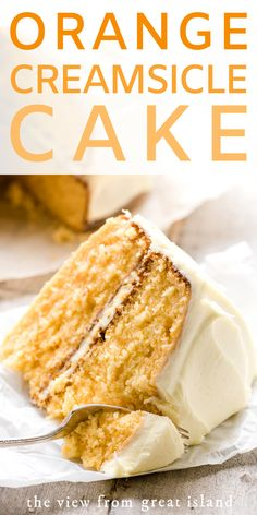 Orange Creamsicle Cake ~ this orange cream cake has a casual vibe that makes it . Orange Creamsicle Cake ~ this orange cream cake has a casual vibe that makes it perfect summer gatherings, potlucks, family birthdays, and everyday meals. Food Cakes, Orange Creamsicle Cake Recipe, Citrus Cake, Summer Dessert Recipes, Best Cake Recipes, Delicious Recipes, Layer Cake Recipes, Cake Mix Cookies, Cupcakes