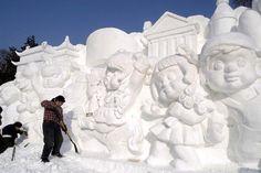snow sculptures | Le Festival d' Harbin est un des quatre événements majeurs dans le ...