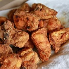 Chicarrones de Pollo (Puerto Rican Fried Chicken) @keyingredient #chicken #pork