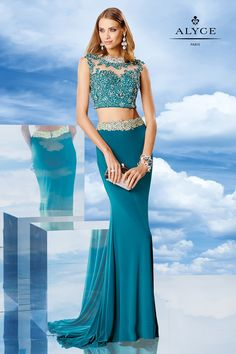 Alyce Paris - 6476 Prom Dress in Teal | CoutureCandy
