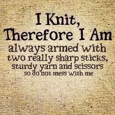 Discover and share Knitting Humor Quotes. Explore our collection of motivational and famous quotes by authors you know and love. Knitting Quotes, Knitting Humor, Crochet Humor, Knit Or Crochet, Knitting Yarn, Knitting Projects, Knitting Patterns, Knitting Needles, Charity Knitting