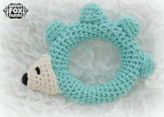 CUSTOM Crochet Baby Hedgehog Rattle Hegehog by GreenFoxFarms