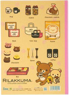 Rilakkuma drawingpad exercise book with chocolate San-X @modes4u