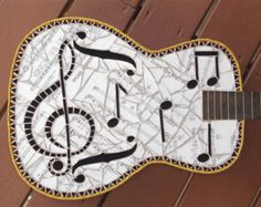 Items similar to Jimi Electric Accoustic Stained Glass Mosaic Guitar on Etsy