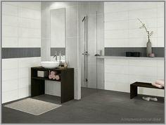bad fliesen ideen modern wandgestaltung fliesen badezimmer ideen ... - Bad Schwarz Wei Gefliest