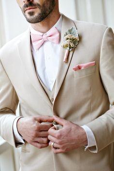 55 popular groom suit ideas for your perfect wedding Beige Suits Wedding, Beach Wedding Groom, Wedding Tux, Purple Wedding, Wedding Attire, Trendy Wedding, Perfect Wedding, Tan Tuxedo Wedding, Wedding Posing