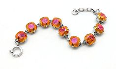 Catherine Popesco New 2016 12mm Astral Pink Swarovski Silver Plated Bracelet 75 ** Want additional info? Click on the image.