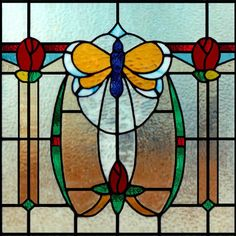 butterfly stained glass bungalow