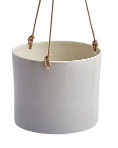 Grow grey porcelain hanging pot planters by Anne Black