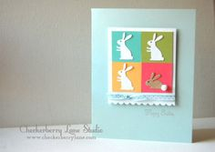 fun with bunny dies…handmade Easter card a muse studio CAS http://www.checkerberrylane.com