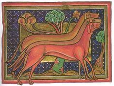 Windhunde in verschiedenen Farbschlägen Bildquelle: Bodleian Library, Oxford. M.s. Bodley 764. England, um 1250http://www.brandenburg1260.de/