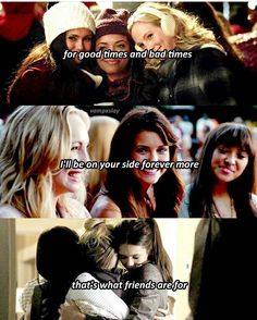 """#TVD The Vampire Diaries Elena,Bonnie & Caroline """"For* good times and bad times, I'll be on your side forever more.. that's what friends are for"""""""