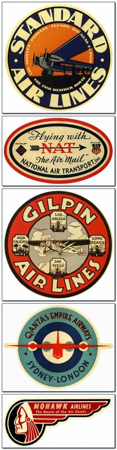 The Golden Age: Airline Luggage Labels.