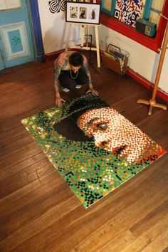 Pixel Art at work, 2013. #PixelArt #StreetArt #UrbanArt #Mosaic