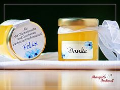 Gastgeschenke - Honig - süße Gastgeschenke zur Konfirmation - ein Designerstück von Margots-Imkerei bei DaWanda