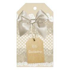 Etiquetas para regalo con lunares y encajes gift tags