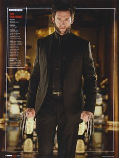 CIA☆こちら映画中央情報局です: The Wolverine:日本が舞台のX-MENシリーズ最新作「ザ・ウルヴァリン」が、ジャパニーズ・マフィアみたいなヒュー・ジャックマンの写真をリリース!! - 映画諜報部員のレアな映画情報・映画批評のブログです