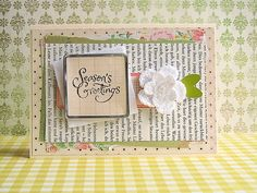 Such a sweet, wonderfully pretty holiday card (image repinned, artist unknown). #cards #Christmas #scrapbooking #crafts #DIY