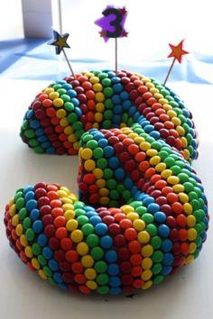 Kids Birthday Cakes - Number Cake