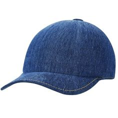 Made from indigo dyed cotton yarn, each individual Kangol Indigo Adjustable Spacecap will have a unique appearance after washing. It has a leather back strap and details inspired by classic selvedge jeans including gold stitching and a stripe knit sweatba Denim Hat, Mens Caps, Striped Knit, Back Strap, Indigo, Knitting, Hats, Cotton, Leather