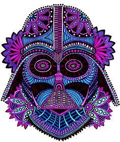 Darth Vader sugar skull by BellaBonezArt