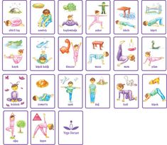 Cartes positions de Yoga