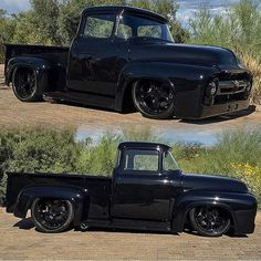 This F100 tho Can anyone confirm the year? I'm thinking '56 but I'm not 100% sure. #Ford #F100 #Truck #ClassicCarsWorld