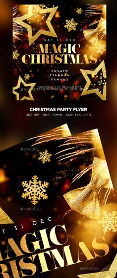 Merry Christmas Flyer by MaksN   GraphicRiver Flyer Size, Christmas Flyer, Font Names, Merry Christmas And Happy New Year, Party Flyer, Templates, Stencils, Vorlage, Models
