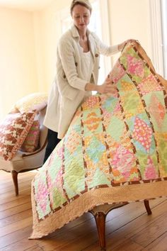 I really want this quilt too!!! Amy Butler's Midwest Modern Fabrics