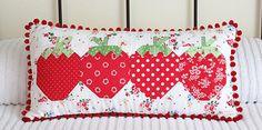 I adore this strawberry social pillow!