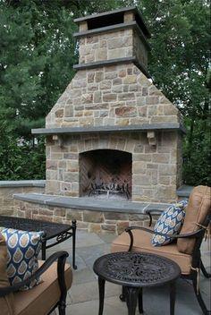 Outdoor Modern Design Fireplace