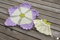 Ribbon & Lace Infant Set #crochet #pattern by Crafting Friends Designs