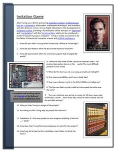 Imitation Game - Video worksheet from TpT - WWII codebreaking