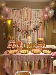 Pink gold 1st Birthday
