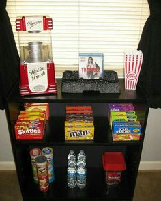 Movie night snack shelf