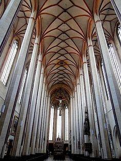 st. martin's, landshut, germany. a hall curch, constructed 1385-1505, by Hans von Burghausen.