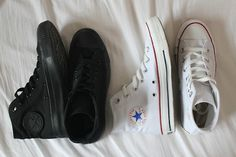 I vote white .It matches with EVERYTHING. everyone Needs a pair (: but black is rad too.