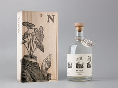 Numen Dry Gin on Packaging of the World - Creative Package Design Gallery Food Packaging Design, Beverage Packaging, Bottle Packaging, Packaging Design Inspiration, Gin Bottles, Wine Bottle Labels, Label Design, Web Design, Package Design