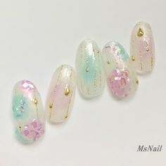梅雨も可愛く♪紫陽花ネイル|激安ネイル通販Shop~MsNailスタッフblog~ Pastel Nails, Nude Nails, Acrylic Nails, Bridal Nails, Wedding Nails, Self Nail, Summer Gel Nails, Korean Nails, Kawaii Nails