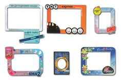 Magnetic photo frames.  #promotionalitems#magnets