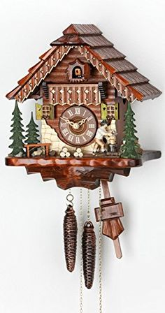 Cuckoo Clock Black Forest House With Moving Wood Chopper KA 1679 *** For  More