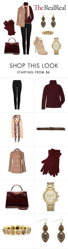"""""""Fall Style With The RealReal: Contest Entry"""" by thoughts-of-thea ❤ liked on Polyvore featuring J Brand, The Row, Burberry, Abercrombie & Fitch, Fleurette, M&Co, Hermès, Michael Kors, Todd Reed and Jimmy Choo"""